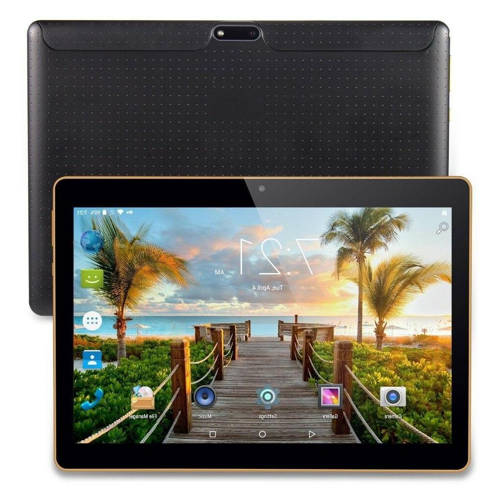 """10.1"""" ANDROID 7.0 TABLETS playstore PC 3G SIM card 32GB  OCT"""
