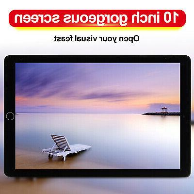 10.1 Inch Ten-Core 4GB+64GB Tablet PC Android 8.0 HD Touch S