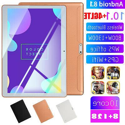 KT107 10.1 Inch 4G-LTE Tablet Android 8.0 Bluetooth PC 8+128