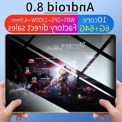 10.1 Inch HD Game Tablet Computer PC Ten Core Android 8.0 GP