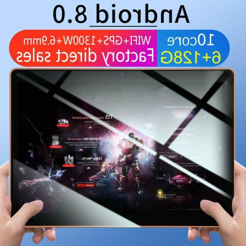 "10"" inch Tablet 6+128GB SIM Dual Camera Wi-Fi US"