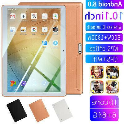 10.1 Inch  6g+64g Tablet PC Computer Laptop Android 8.0 Ten