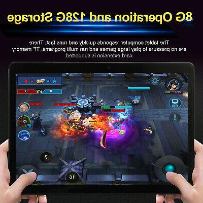10.1 inch Game Tablet Computer PC 8G+128G Android 8.0 Blueto