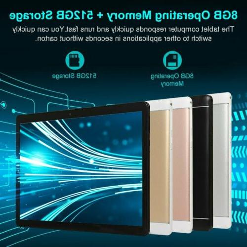 10.1 inch WiFi Tablet Android 9.0 Pad 8+512GB 10 Core Tablet