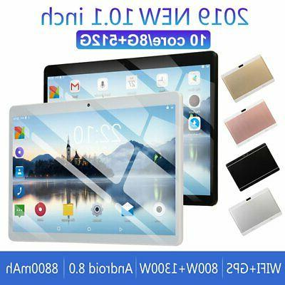 "10.1"" inch HD Tablet Android 8.0 8+512GB 10 Core GPS Dual"