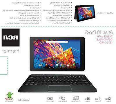 "RCA 10"" Quad Core Tablet with Keyboard"