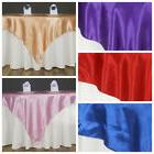 "15 Pack 60"" Square SATIN Table Overlays Toppers Wedding Whol"
