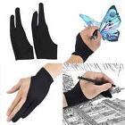 2 Finger Artist Drawing Glove Low Friction Tablet Pad Art St