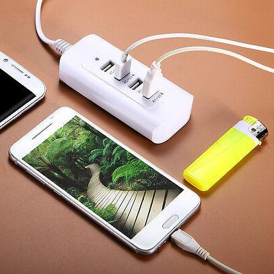 4 Port 6A USB Wall Charger Power Adaptor for iPhone 6S 6 5 T