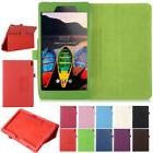 "7"" 8"" 10.1"" Leather Flip Folio Case Stand Cover for Lenovo T"