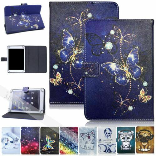 10inch Pattern Leather PU Flip Stand Tablet Case Cover For R