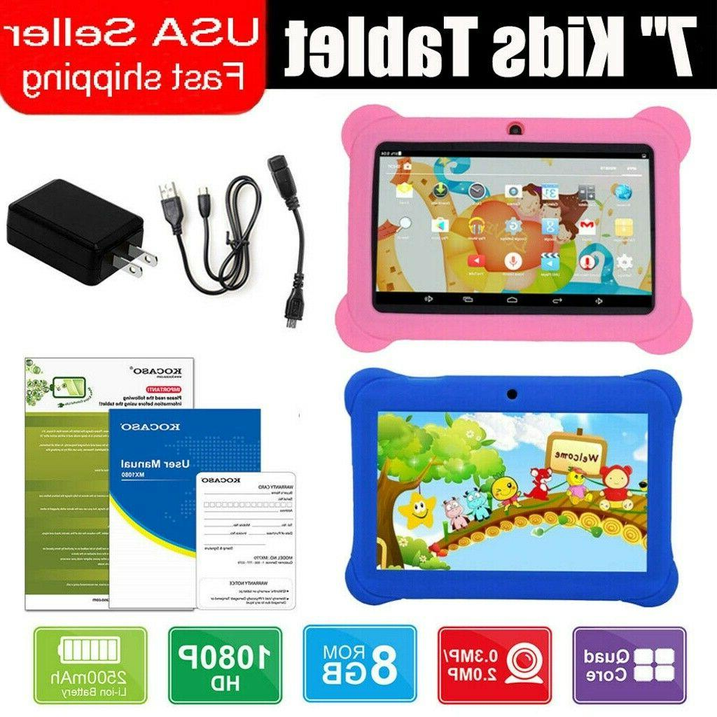 "7"" Tablet Quad 8GB Boys Gift For Education Learning"