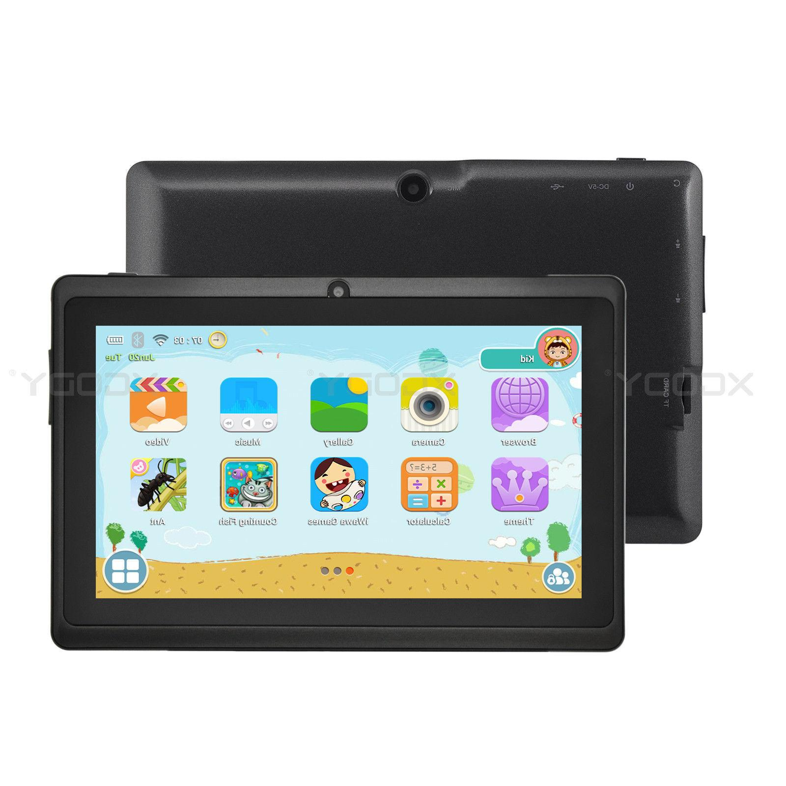 XGODY 7'' Android Tablet WiFi Webcam 8GB for Kids Children