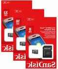 SanDisk 8GB 16GB 32GB Micro SD SDHC Class 4 Flash Memory Car