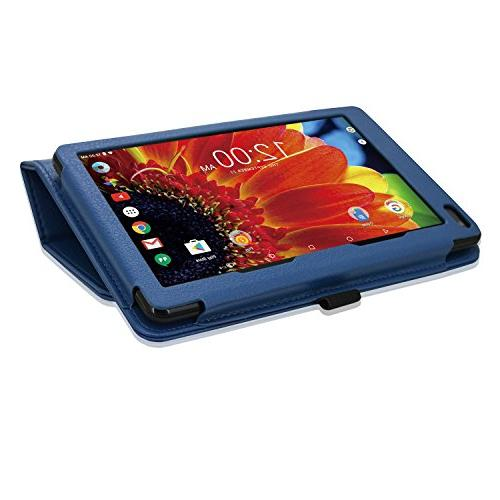 "ACdream Case, Leather Case for RCA Voyager II/RCA III RCA/RCA Voyager Pro 7"" Tablet, Blue"