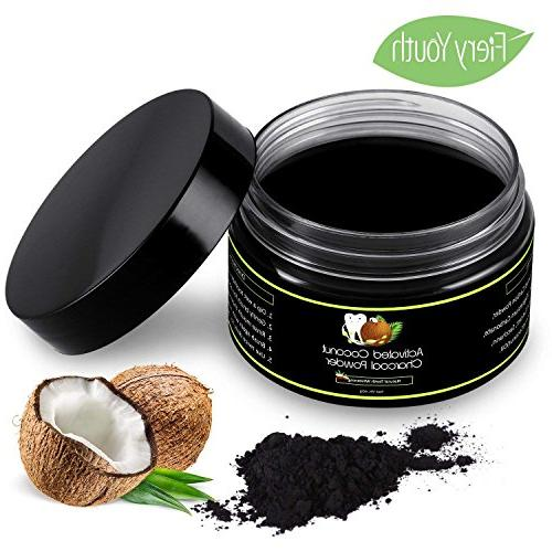 Activated Charcoal Natural Teeth Whitening Powder Kit Winter