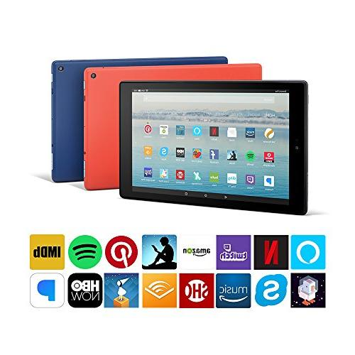 """Fire 10 Tablet with Hands-Free, 10.1"""" 1080p 32 GB, Red - Offers"""