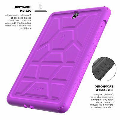 For Samsung Galaxy S2 9.7 Turtle Skin Pruple
