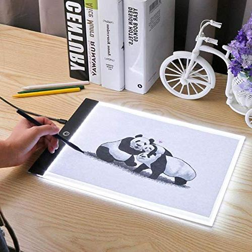A4 Tablet Graphic Tablets Box Tracing Art Writing Table