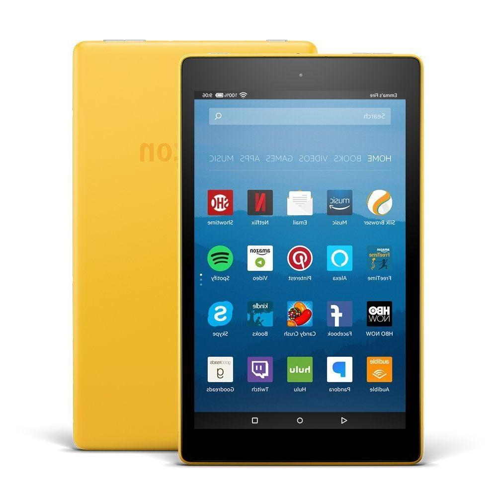 All New Model Amazon Kindle Fire HD 8 Tablet 16 GB Yellow -