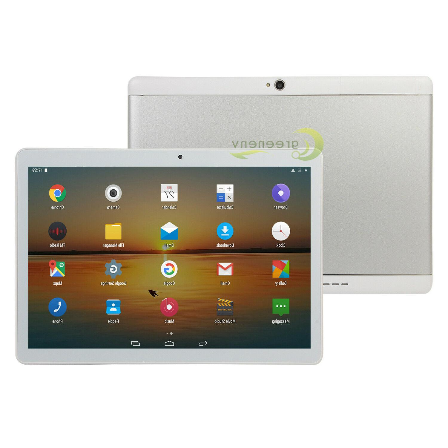 Android 8 Quad Core 10 HD Tablet Computer Wifi Keyboard