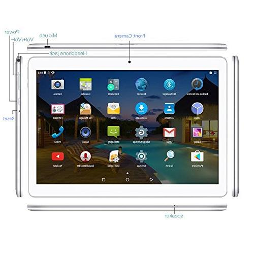 Android Tablet Dual Sim Slots - YELLYOUTH Core 4GB ROM 3G GSM Phone WiFi Bluetooth Silver
