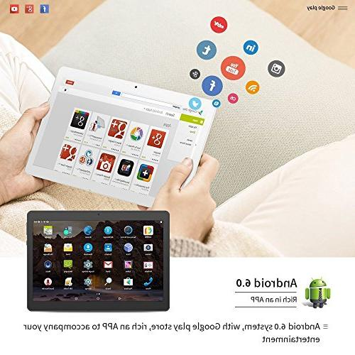 Android Tablet Dual Sim Card Slots YELLYOUTH inch Core ROM 3G GSM Phone WiFi Bluetooth YY-107S Silver