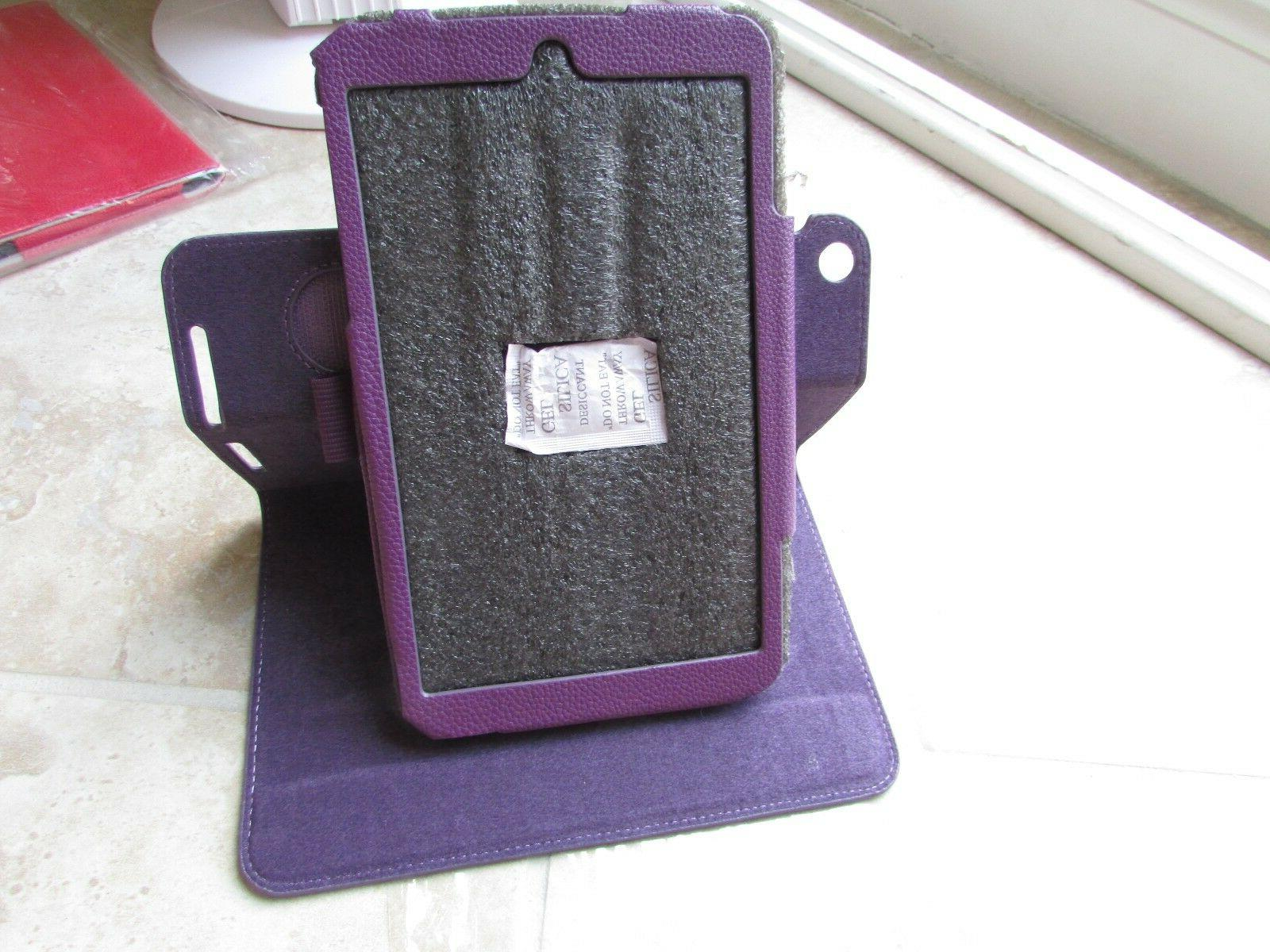 Me181c Tablet Leather Folio Cover Case Purple