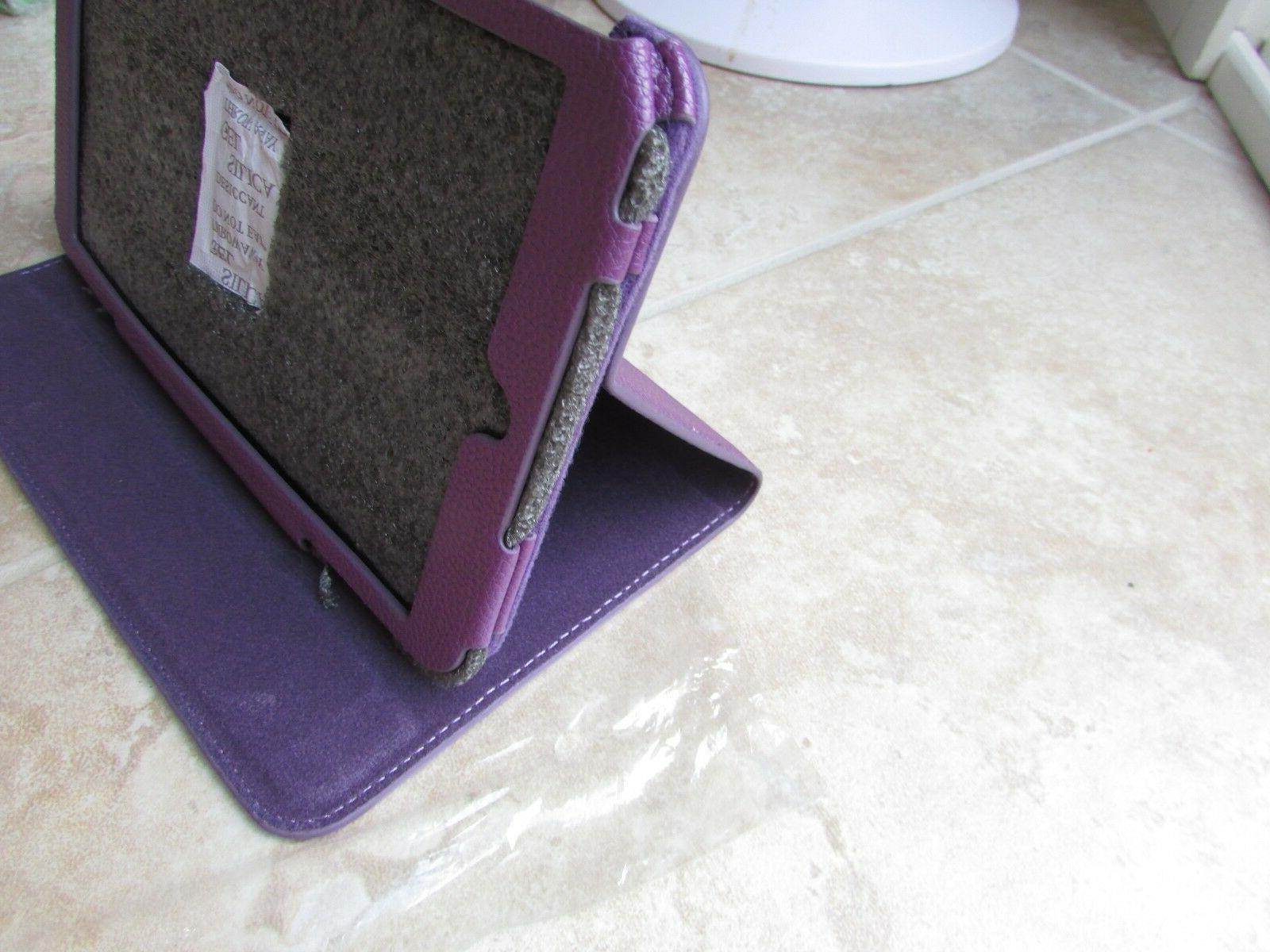 ProCase Me181c Stand Book Leather Folio Cover Purple