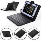 Black PU Leather Case Cover Stand With Micro USB Keyboard Fo