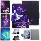 Butterfly Stand PU Leather Cover Case For Samsung/Apple/Len