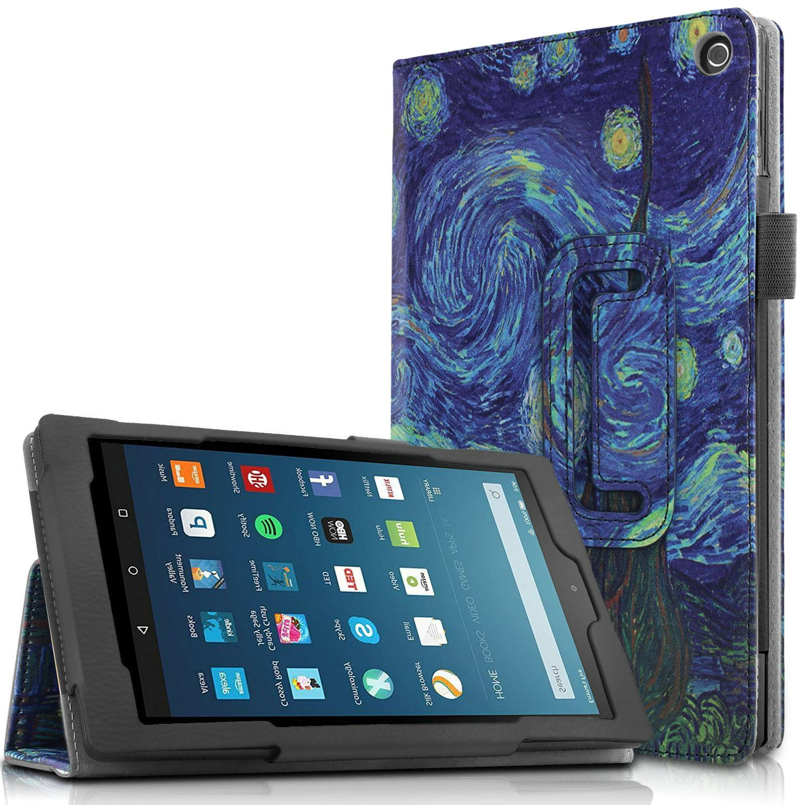 Infiland Folio Tablet Case Stand Cover For All-New Amazon Fi