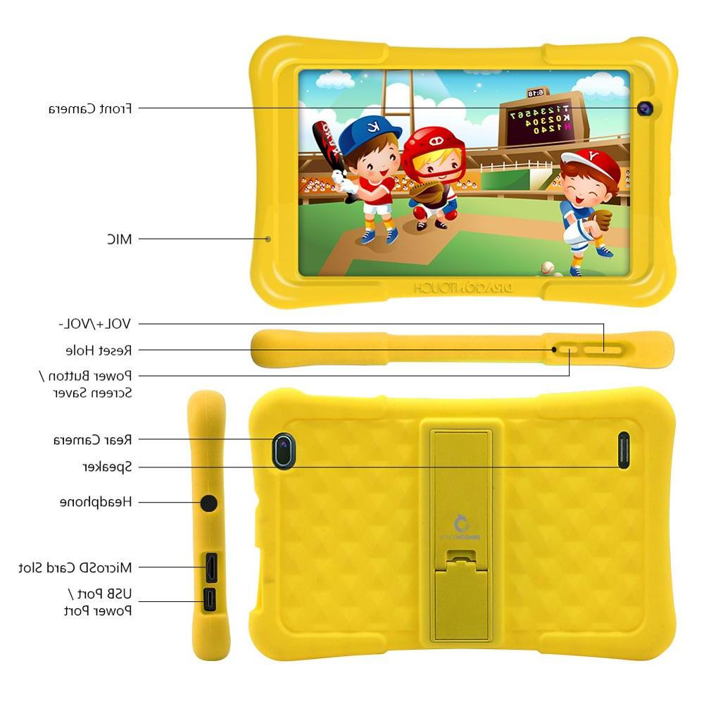 <font><b>Dragon</b></font> <font><b>Touch</b></font> <font><b>Tablet</b></font> inch HD Display in Android 8.1 for Children RAM 16GB Quad IPS PC