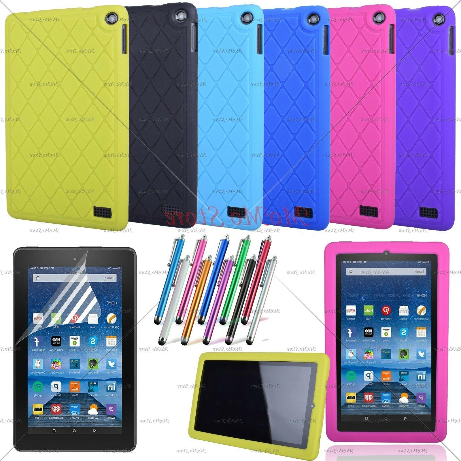 Kiddie Shock Proof Silicone Case Cover For 2017 Amazon Kindl