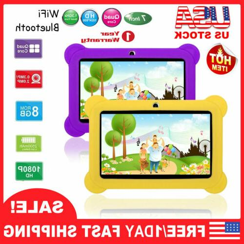 "7"" Quad Core Kid Tablet PC Android 4.4 Dual Camera HD WiFi 8"