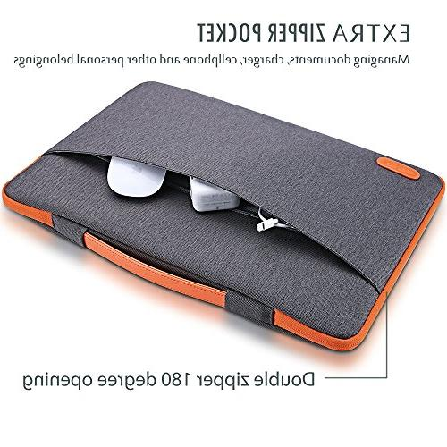 "ProCase Inch Laptop Case Protective Bag, Notebook Carrying for 14"" 15"" Samsung Sony ASUS HP -Dark"