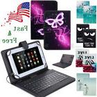 Leather Tablet Case Cover with Keyboard for Alcatel 1T 7/Len