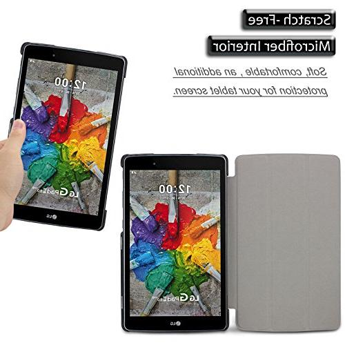 Infiland LG X Pad Tri-Fold Ultra Stand Frost Back for LG G X / Pad III 8-Inch Tablet,