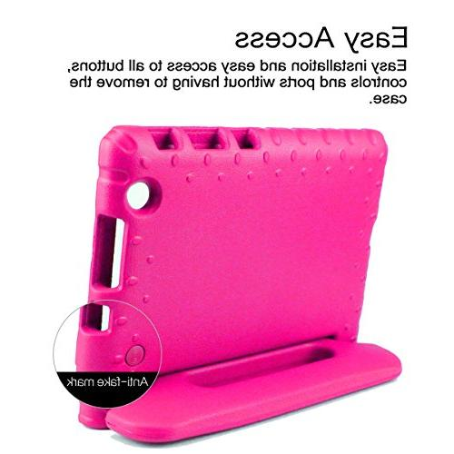 SIMPLEWAY LG Pad X 8.0 Only Fit AT&T / Carry Handle Child Holder Case Compatible 8 Inch G Rose
