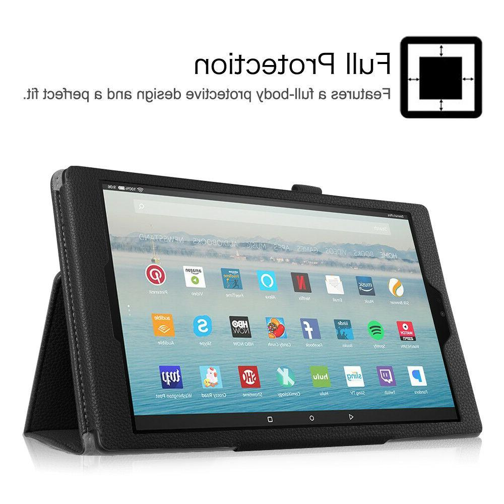 For Amazon HD 10 Inch Tablet 7th Folio Case Stand