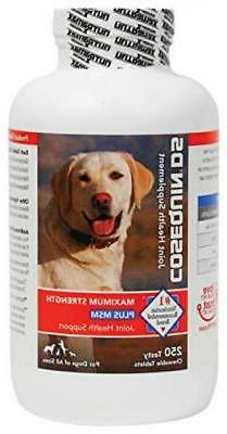 Nutramax Cosequin DS PLUS MSM Chewable Tablets, 250 ct, New