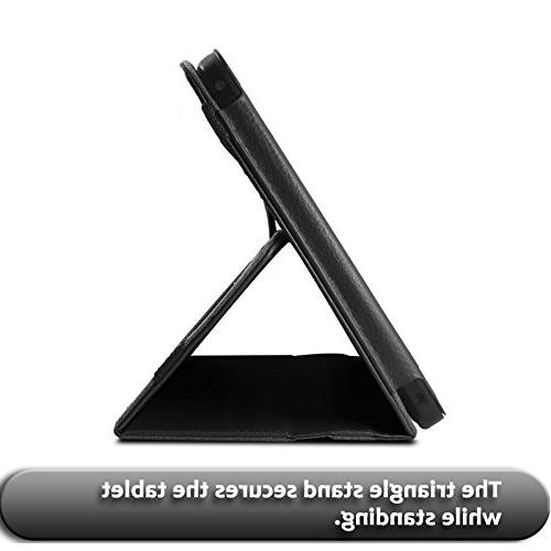 "Infiland RCA 10 Pro/Viking V2 Leather Stand Case for 10"" Viking Pro/Viking II / 10.1"" Cambio V2 Tablet, Black"