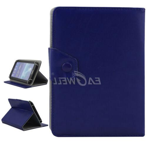 "US For 7"" 8"" 10.1"" Tablets Universal Folded Leather Case Sta"