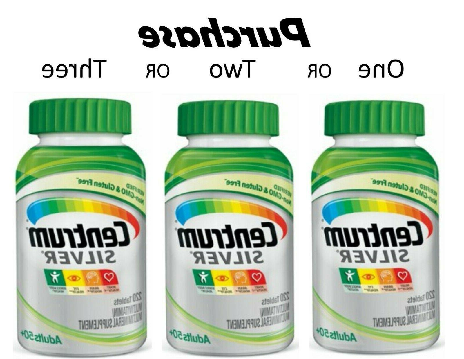 silver adult 50 multivitamin tablets 220 count