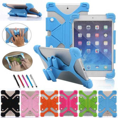 Universal Adjustable Shockproof Soft Silicone Case Cover For
