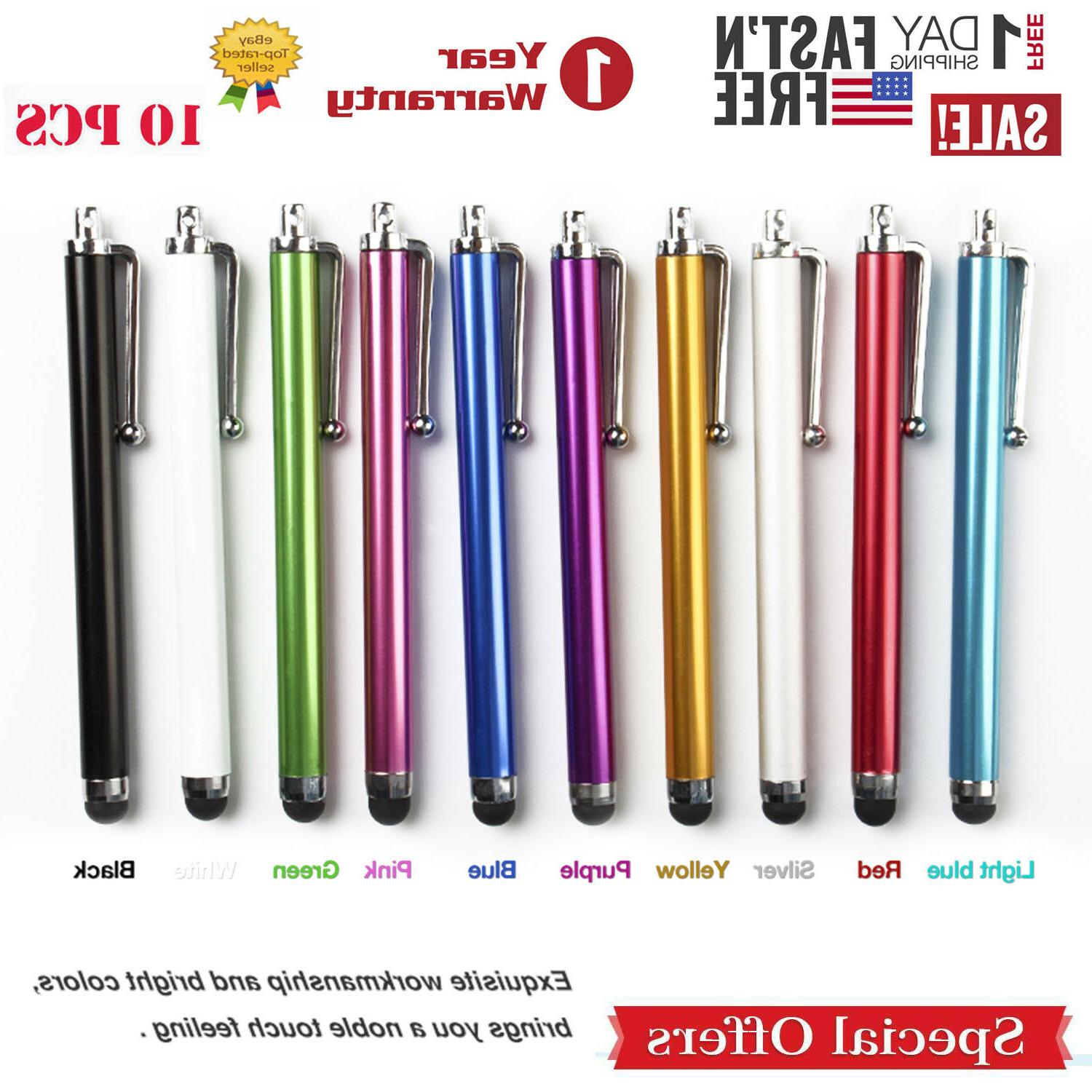 10x Multi-Color Universal Stylus Touch Screen Pen for Tablet
