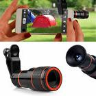 US 12X Zoom Optical Clip-on Telescope Phone Camera Lens For
