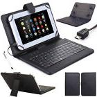 "US! Folio Stand Keyboard Leather Case Cover For 7''/8""/10"" A"