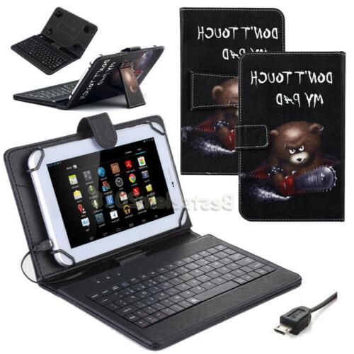 """US For 10"""" 10.1"""" inch Tablet Pattern Leather Case Cover with"""