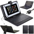 US For 7'' 8'' 10'' Tablets Micro USB Keyboard with PU Leath